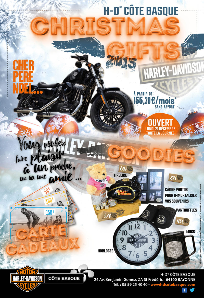 christmas gifts concessionnaire officiel harley davidson c te basque. Black Bedroom Furniture Sets. Home Design Ideas