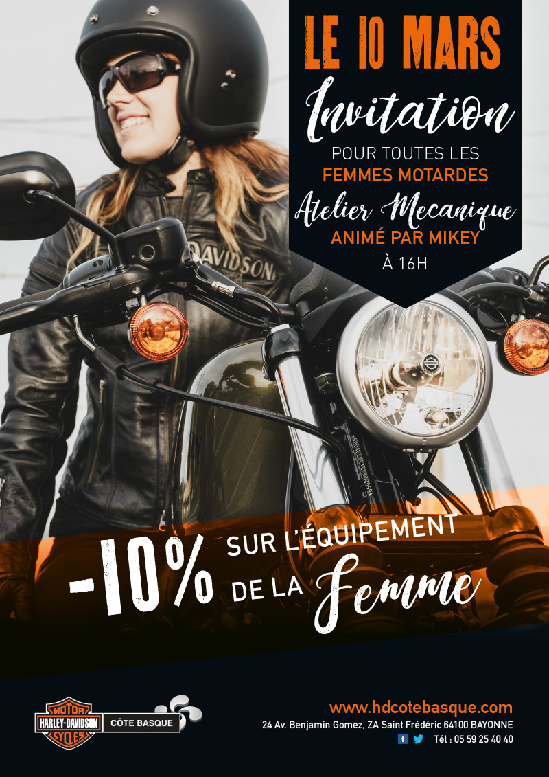 atelier m canique avec mikey concessionnaire officiel harley davidson c te basque. Black Bedroom Furniture Sets. Home Design Ideas